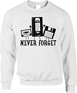Retro Jumper Never Forget VHS and Floppy Discs Sweatshirt