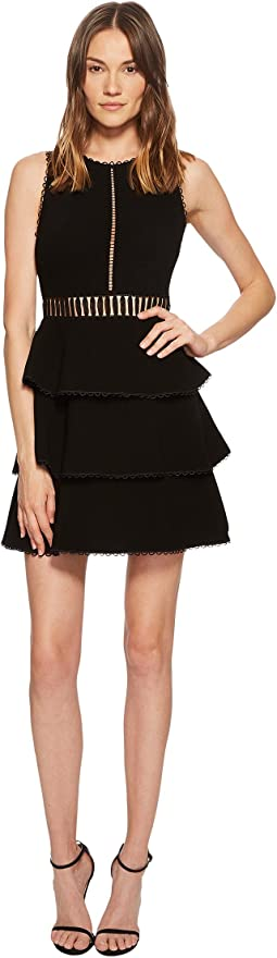 Rachel Zoe Vanessa Tiered Stretch-Crepe Dress