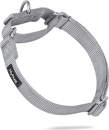 Hyhug Pets Premium Collier martingale anti-échappement en nylon pour chiens de grande taille Confortable et sûr – Ent...