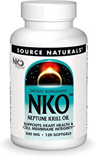 Source Naturals NKO Neptune Krill Oil 500mg Supports Heat Health & Cell Membrance Integrity EPA-DHA Omega-3 Fatty Acids Pu...