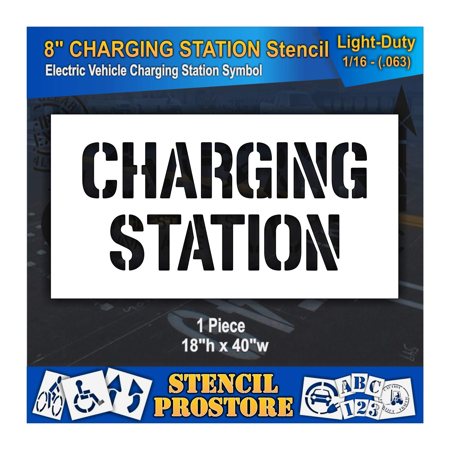 Pavement Stencils - 8 in Memphis Mall Charging Station Popular brand the world 44' Stencil x 18''