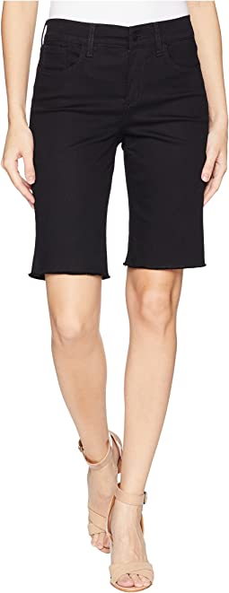 Briella Shorts w/ Fray Hem in Black