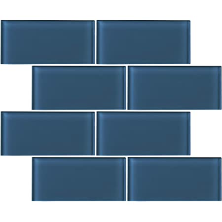 THAG-17 1x 3 brick light blue glass mosaic tile sheet-kitchen and bath backsplash and wall and floor tile