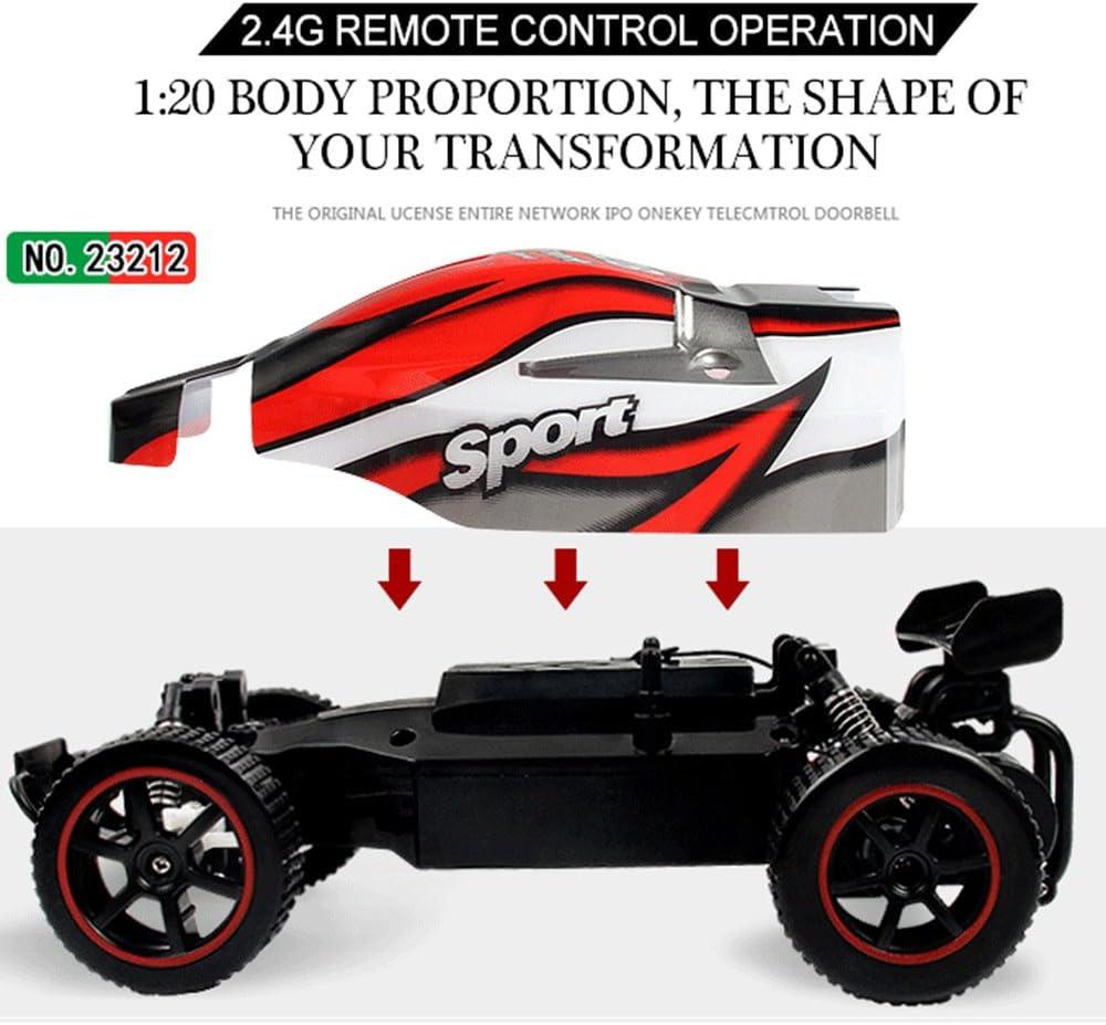 SZJJX Ferngesteuertes Auto Hohe Geschwindigkeit RC Rennauto Rennfahrer 1:20 Maßstab Fahrzeug 2,4GHz 2WD Elektro Funkfernsteuerung Off-Road Buggy Spielzeug für Kinder Geschenk Rot