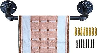 Industrial Pipe Towel Rack,Towel Bar Fixture Set,Bath Towel Holder Towel Horse,Napkin Hanger   Wall Mounted DIY Style, Coated Finish,18 Inch