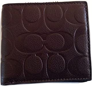 Men's Mahogany Signature Leather Coin/Credit Card Wallet