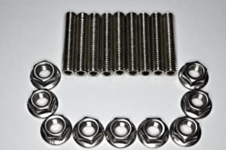 1320 Performance Stainless Exhaust manifold Stud Studs Bolt Kit B D H F GSR Si b16 b18c b18b ITR (18pc - Stud & Nut)
