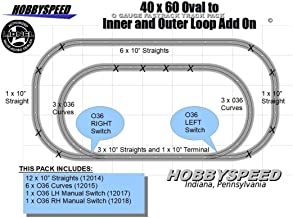 40x60 to an Inner & Outer Loop Track Pack ADD ON Pack O Gauge