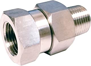 Gun-Hose Swivel Joint, Kink Free Hose Fitting, Anti-Twist Hose Stainless Steel Fitting for Pressure Power Washer Hoses, 4500 PSI