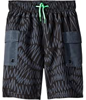 Stella McCartney Kids - Oswald Zigzag Banded Waist Swim Shorts (Toddler/Little Kids/Big Kids)