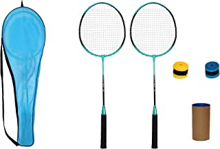Fox Nano-Speed Fox-50 Badminton Racket Combo Pack with 3 Pieces Nylon Shuttlecock and 2 Piece Badminton Grips