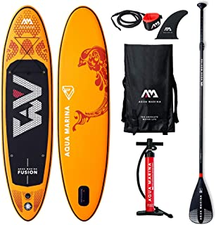 Aqua Marina Fusion-All-Around iSUP, 3.15m/15cm, with Paddle and Safety Leash, Orange