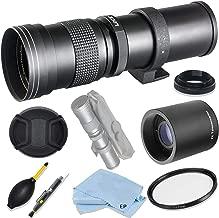 Vivitar 420mm-1600mm F8.3 Telephoto Zoom Lens for Nikon D850, D810, D750, D610, D500, D7500, D7200, D7100, D5600, D5500, D5300, D5200, D3500, D3400, D3300, D3200 Digital SLR Cameras