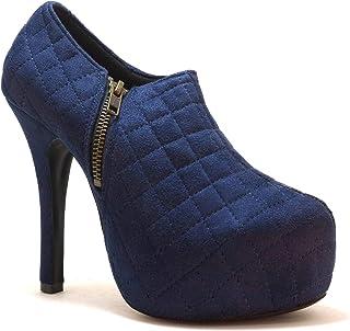 hype Women's Platform Heeled Cross Stitches High Heel Pump ZD9253