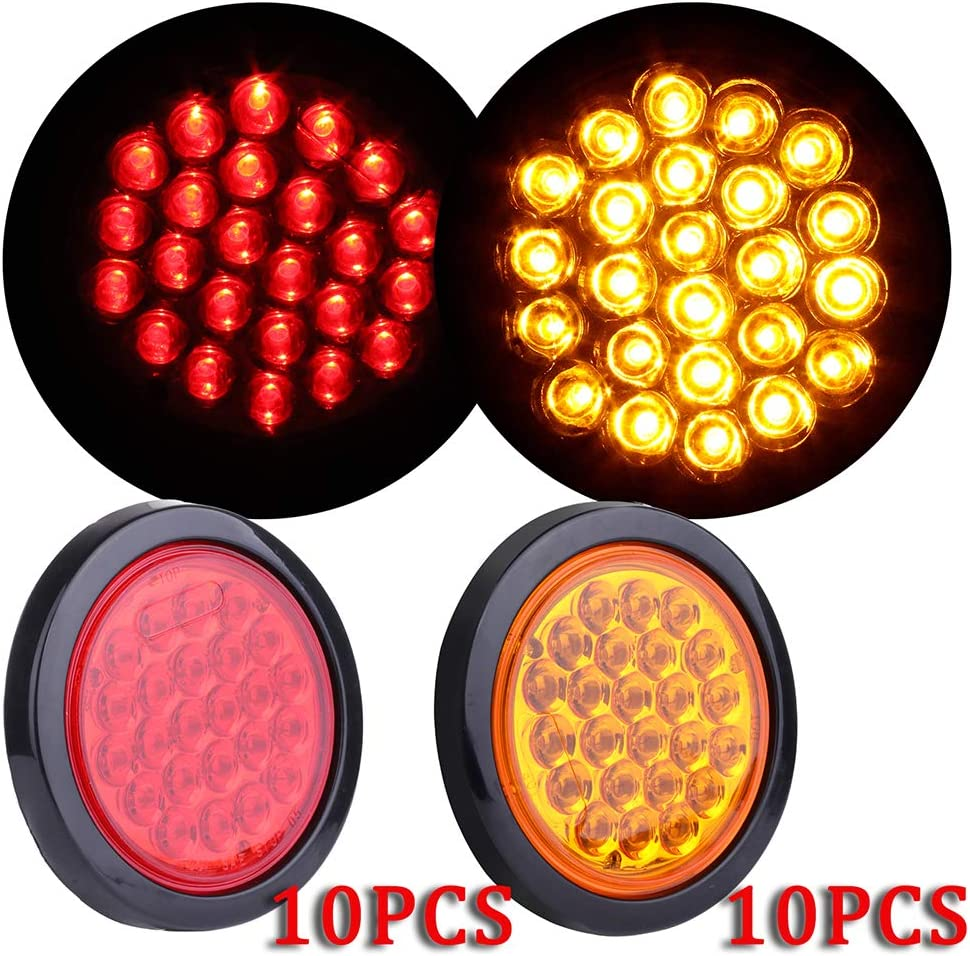TUPARTS Set of 10 Red Amber Bulbs Marker Side Clearance Max 68% OFF Re Light excellence