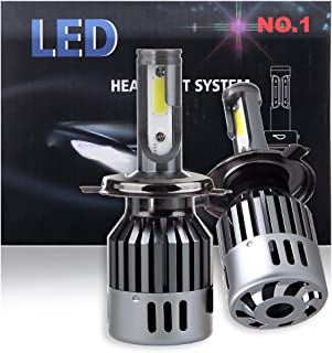 ECCPP H4 LED Headlight Bulb Super Bright 360 Degree Cree White Fog Light LED Headlight Kit High Low Beam - 8000Lm 80W 6000K Focus Light - 1 Year Warranty (Pack of 2)