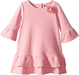 Tiered Ruffle Sleeve Dress (Toddler/Little Kids/Big Kids)