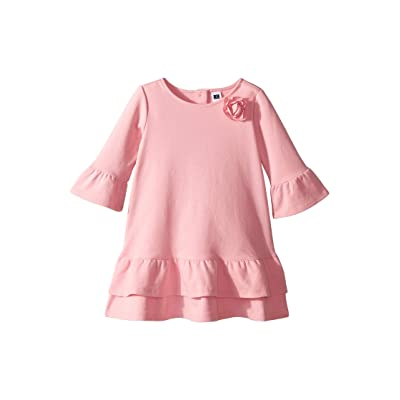 Janie and Jack Tiered Ruffle Sleeve Dress (Toddler/Little Kids/Big Kids) (Blush Pink) Girl