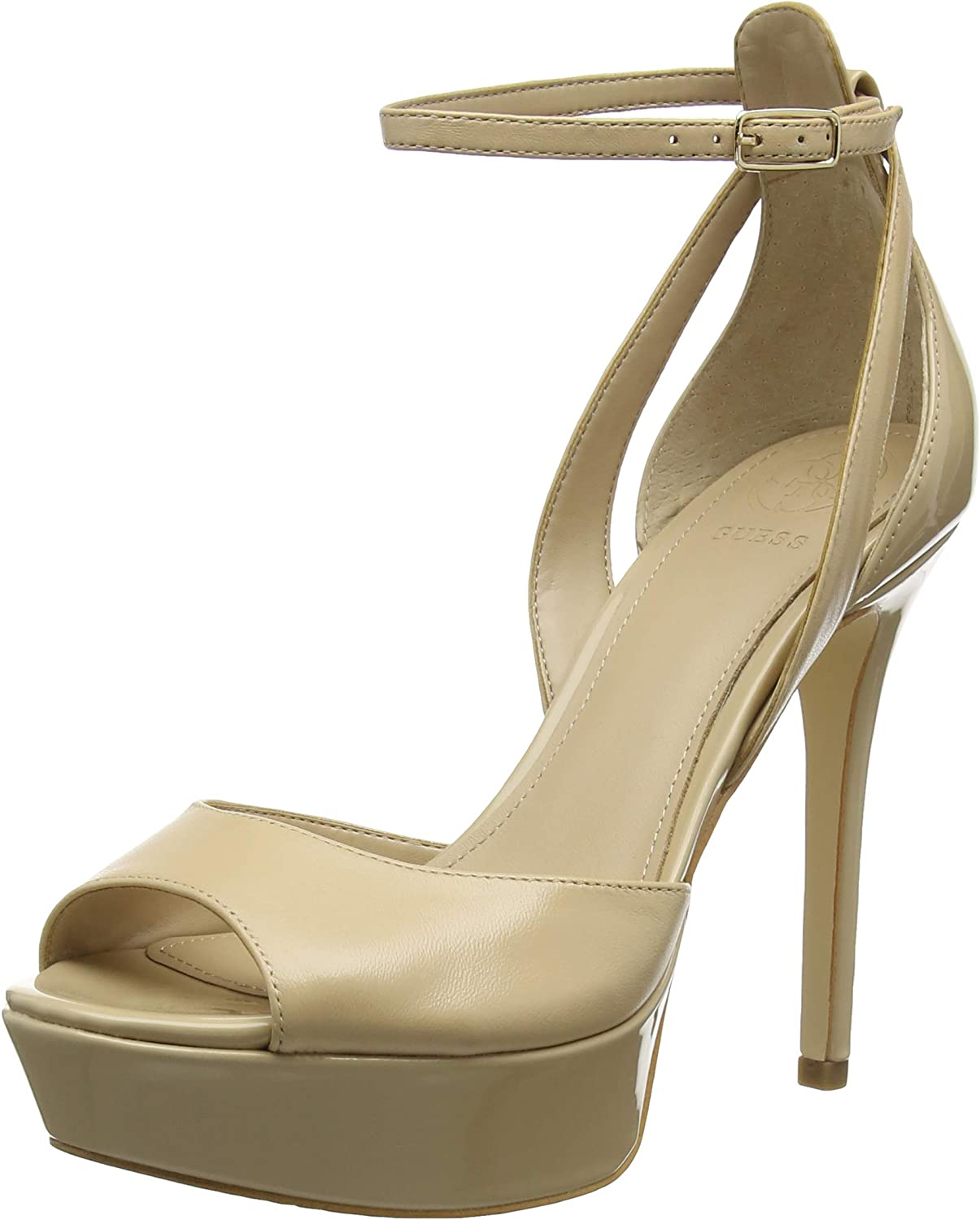 Guess Damen Laurele Sandalo (Sandal) Leath Knchelriemchen Pumps