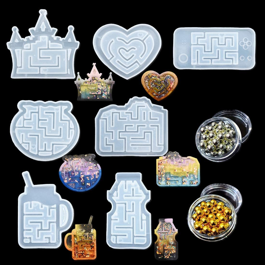 FineInno Resin Tucson Mall Shaker Molds Silicone Qu sold out Sets Casting Epoxy