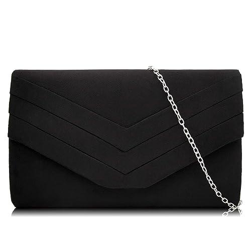 2b1ed7032d Milisente Women Clutch Bag Suede Envelope Clutch Classic Evening Bag