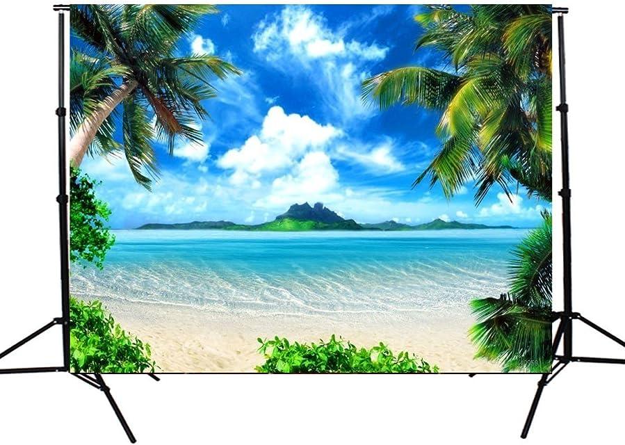 MASUNN 5X7Ft Vinilo Sunshine Mar Playa Fotografía Telón De Fondo Estudio Foto Prop