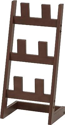 市場(Marche) スリッパラック ブラウン 27x23.5x58cm 木製 スリム ILR-3185BR
