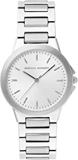 Rebecca Minkoff Women's Quartz Watch with Stainless Steel Strap, Silver, 18 (Model: 2200303)