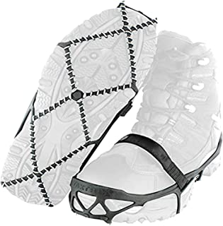 Holyfly Ice Snow Grips,Crampon Traction Cleats System Anti-Skid Traction Grips Crampons Spikes,Light Winter Ice Grips for ...