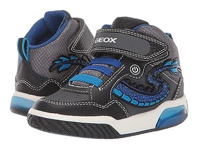Geox Kids Jr Inek 7 (Toddler) (Black/Blue) Boys Shoes
