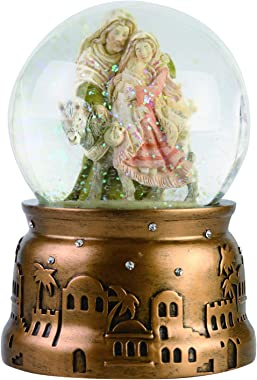 Enesco Heart of Christmas Holiday Holy Family Musical Waterball, 5.91 Inch, Multicolor