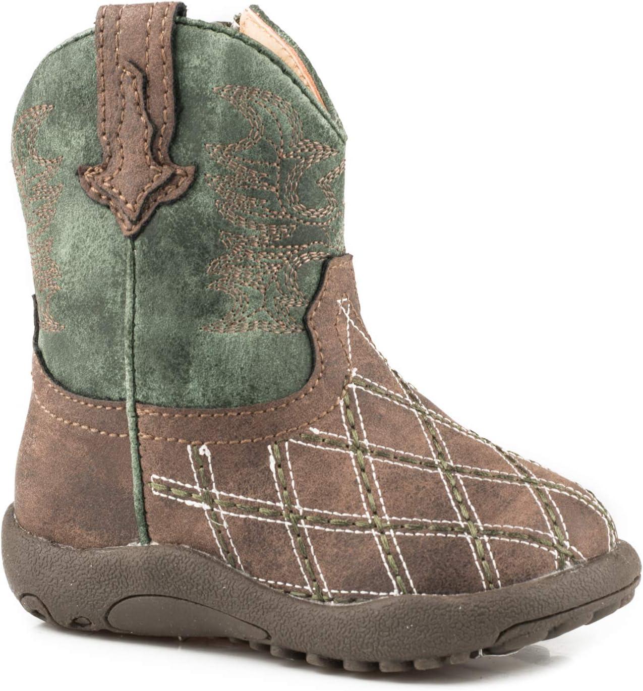 ROPER 売り出し Cowbabies Cross Cut 贈物 Green Boots 1