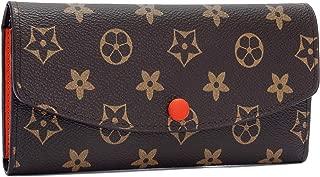 Women RFID Blocking Retro Wallet, Long Wallet Tri-fold Credit Card Holder