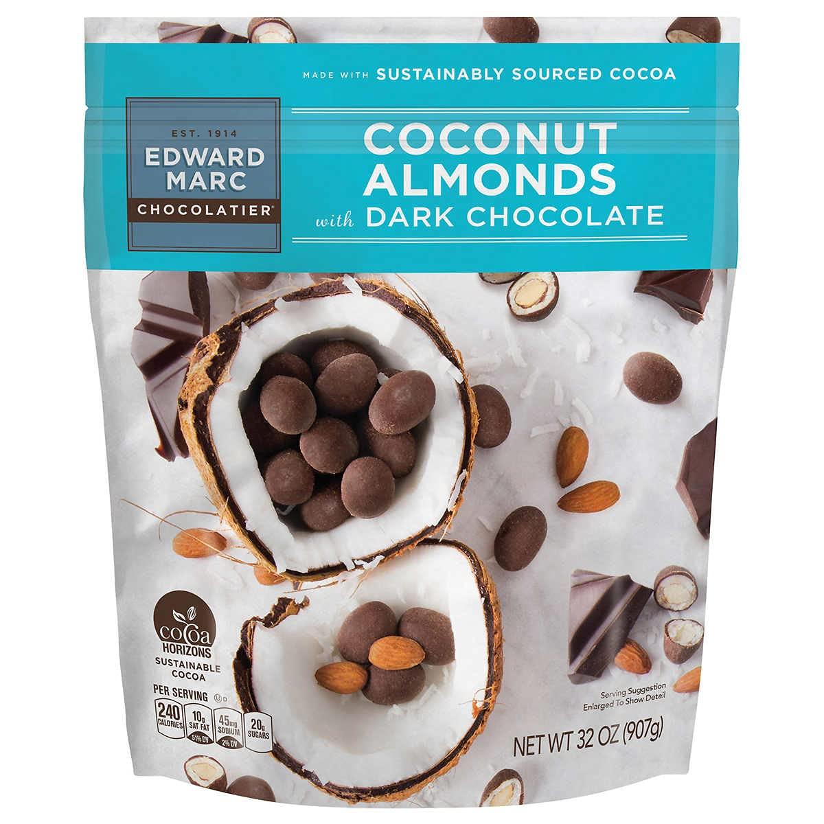 Edward Marc ショッピング Chocolatier Coconut Almonds oz. Chocolate 保障 Dark 1 32