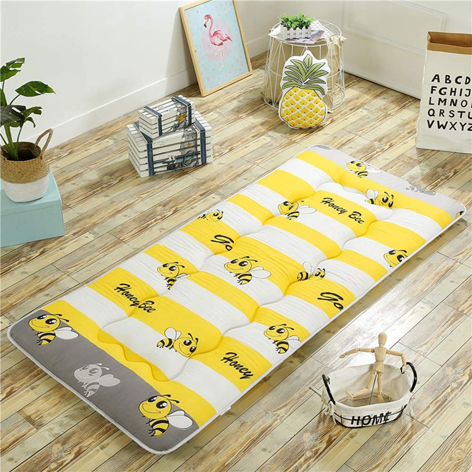 Tatami Mattress, Tatami Floor mat, Japanese futon Topper Traditional Foldable Breathable Soft Thicken Double Sleeping pad -A 100x200cm(39x79inch)