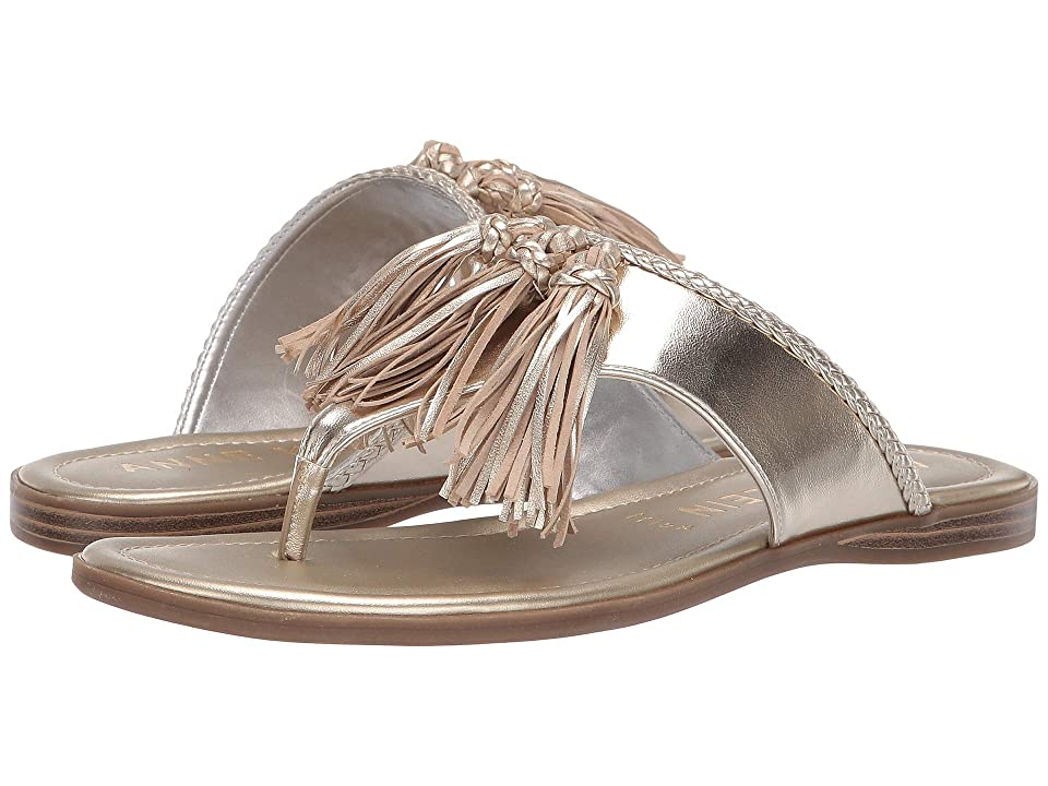 Anne Klein Adrienna Tassel Sandal (Light Gold) Women