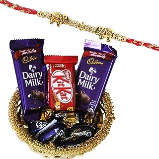 SFU E Com Premium Elephant Design Rakhi with Chocolates   Rakhi Chocolate Gift for Brother   Premium Rakhi Chocolate Baske...