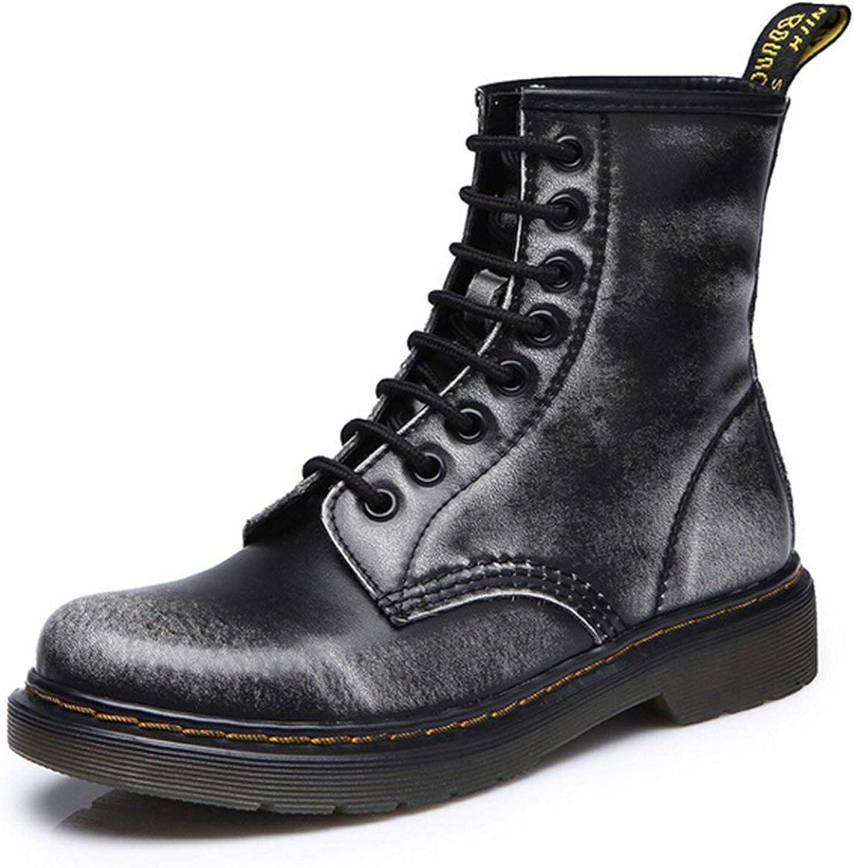 HANBINGPO 2019 Split Leather Men Boots Dr Boots shoes High Top Motorcycle Autumn Winter shoes Man Snow Boots ST50