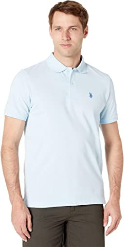 Solid Cotton Pique Polo with Small Pony