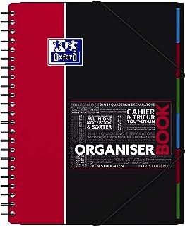 OXFORD 400019524 Organiserbook Studium Digitaler Collegeblock A4 kariert 80 Blatt - Zufallsfarbe, kein Farbwunsch möglich...