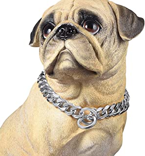 PROSTEEL Stainless Steel Metal Chain Walking Training Dog Pet Necklace Slip Collar Supplies for Small Medium Large Dogs