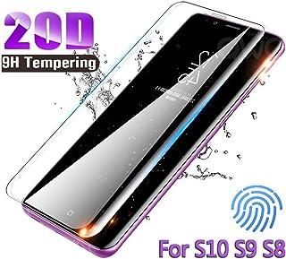 LZHANDA 20D fullt böjt skärmskydd för Galaxy S9 S10 S8 Plus Note 8 9 A50 härdat glas för A7 ny A30 A40 film för Samsung No...