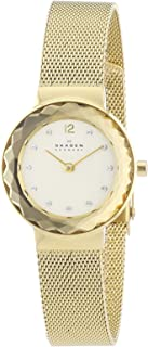 Denmark Women's Goldtone Faceted Glass Bezel Watch