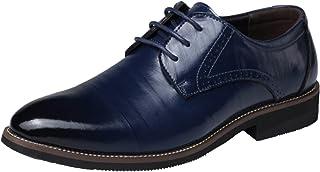 DADAWEN Wingtip zapatos de vestido de piel Para Hombre Oxford