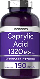 Caprylic Acid 1320 mg | 150 Softgel Capsules | from MCT Oil | Non-GMO, Gluten Free Supplement | by Horbaach