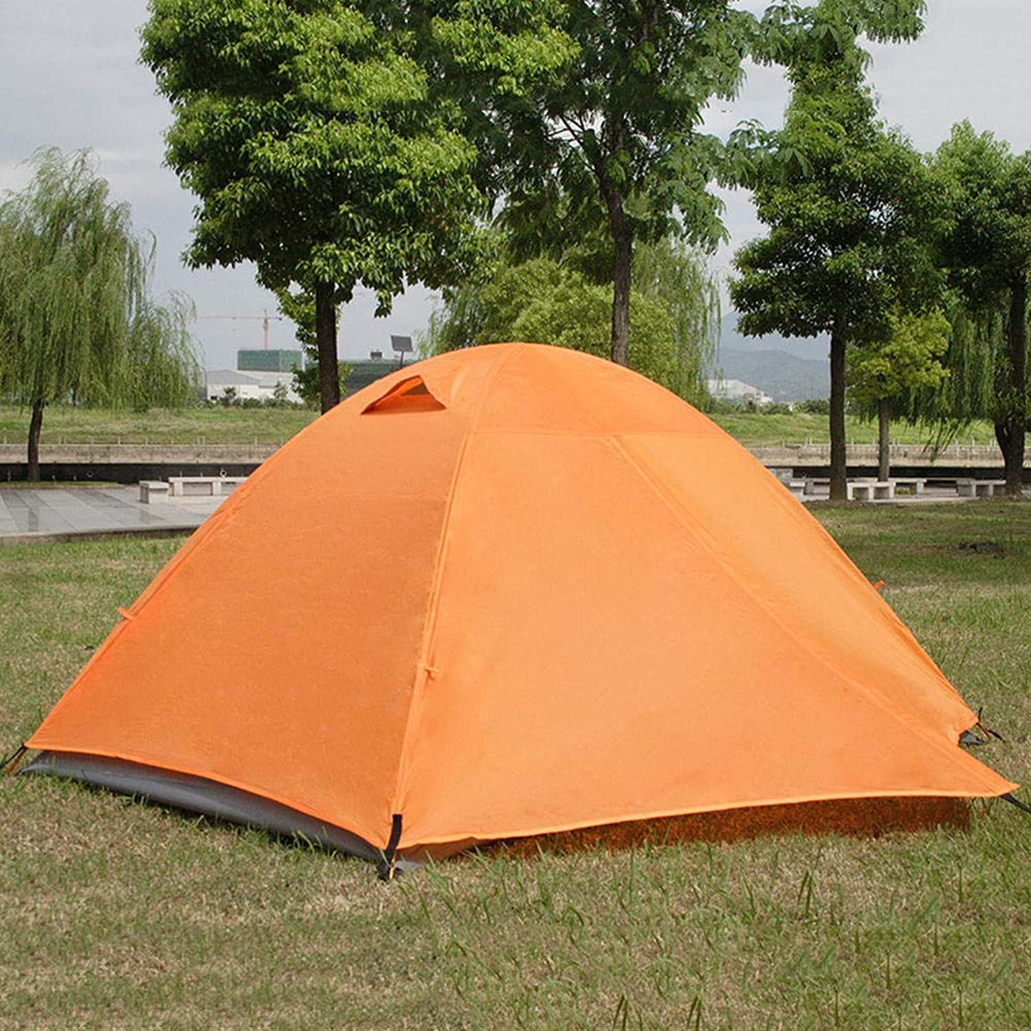 DoubleDeck 2Person Couple Outdoor Travel, Mountain Climbing, Camping, RainstormProof Aluminum Pole Tent