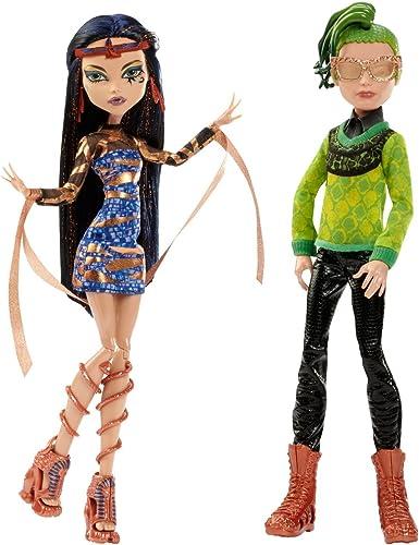 Monster High - Poupée Mannequin - Couple Boo York Cleo De Nile & Deuce Gorgon 10.5  Doll 2-Pack