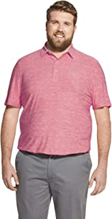 Men's Big and Tall Golf Title Holder Short Sleeve Solid Polo