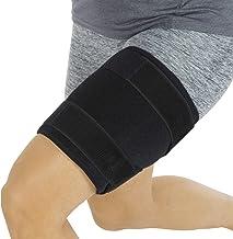 Brace Brain Vive - Hamstring Quad Wrap - پشتیبانی از آستین قابل تنظیم آستین برای عضله کشاله ران، Sprains، Quadricep، Tendinitis، تمرین، سلولیت لاغر، بازیابی آسیب ورزشی - مردان، زنان