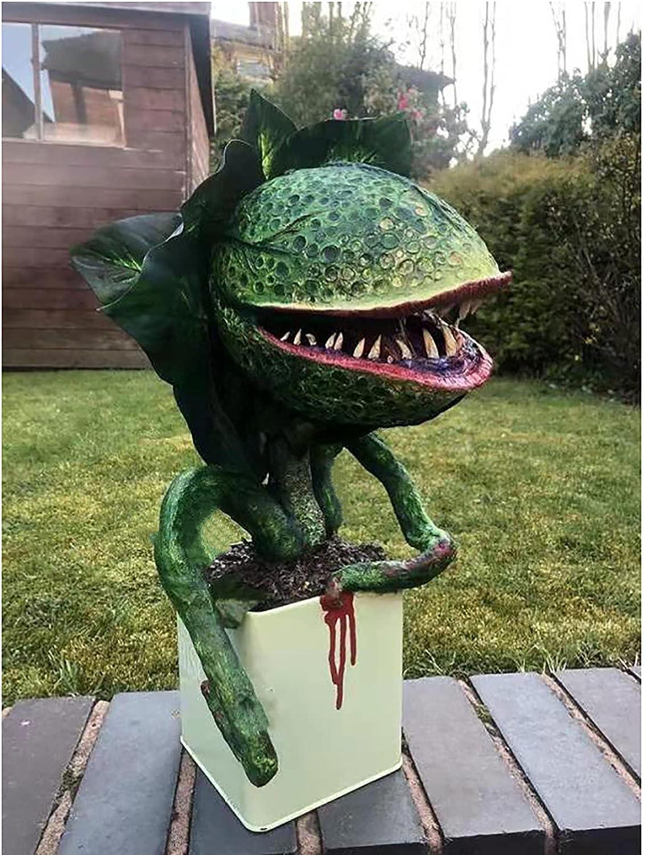 Piranha Resin Sculpture Outdoor Decor Statues, Halloween Horror Garden Statue Decoration for Patio Lawn Porch Backyard Indoor and Outdoor Yard
